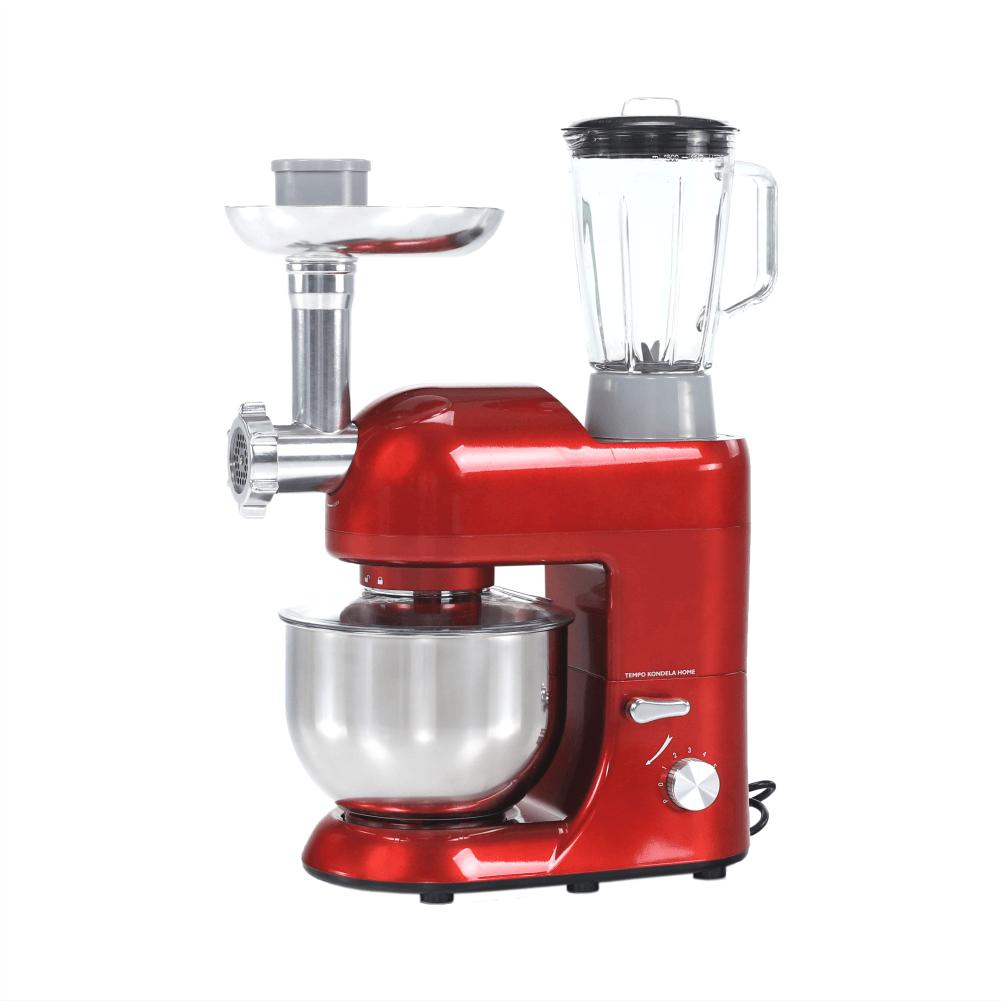 Robot de bucătărie, 1800 W, 5 l, roşu/crom, KANTE