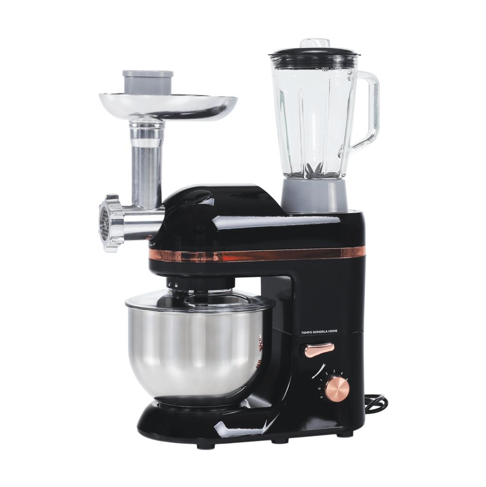 Robot de bucătărie, 1800 W, 5 l, negru/aru/crom, KANTE