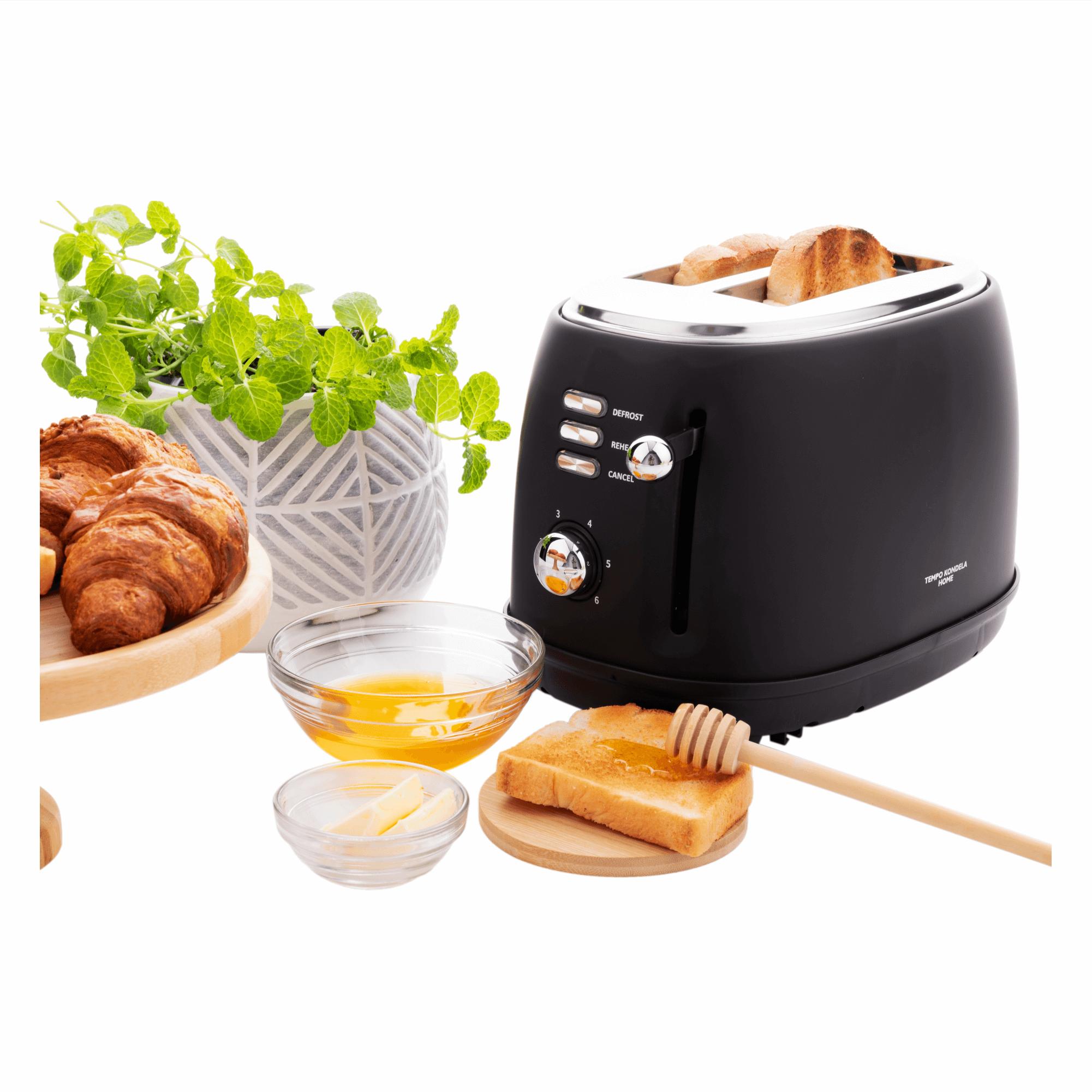 Prăjitor de pâine, negru mat CARSON