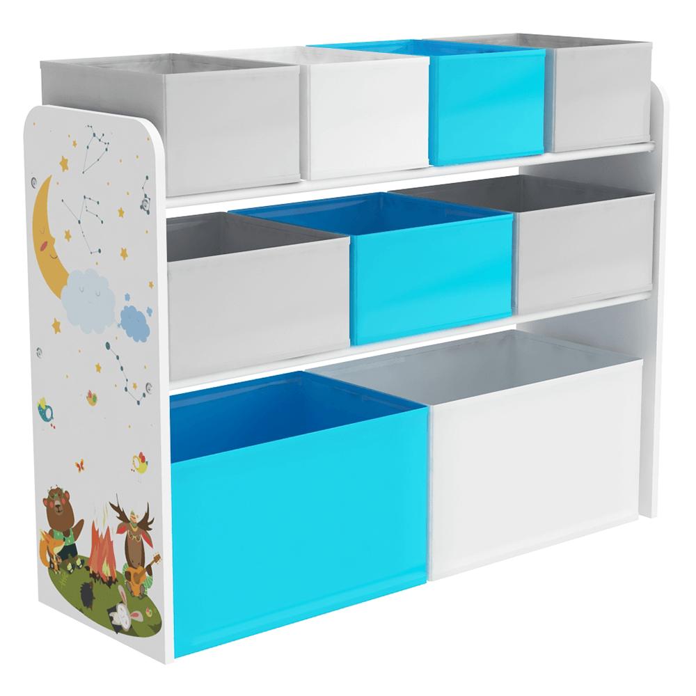 Organizator / raft pentru jucării, multicolor / model, DARLING TYPE 2