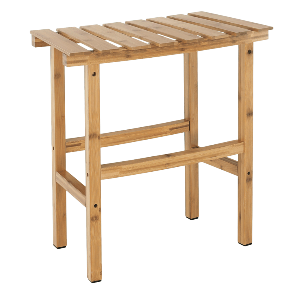 Íves kisasztal pezsgőfürdőhöz, természetes bambusz, VIREO TYP 1