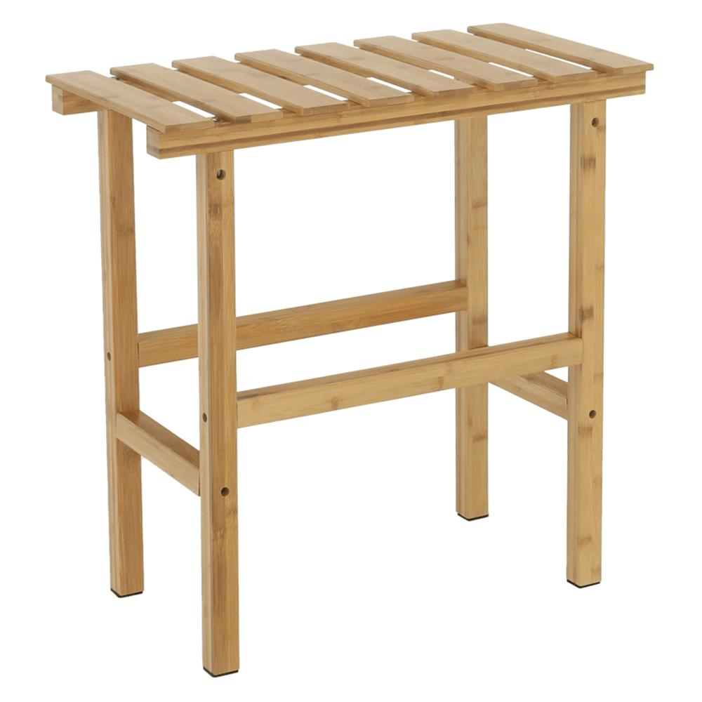 Téglalap alakú kisasztal pezsgőfürdőhöz, természetes bambusz, VIREO TYP 2