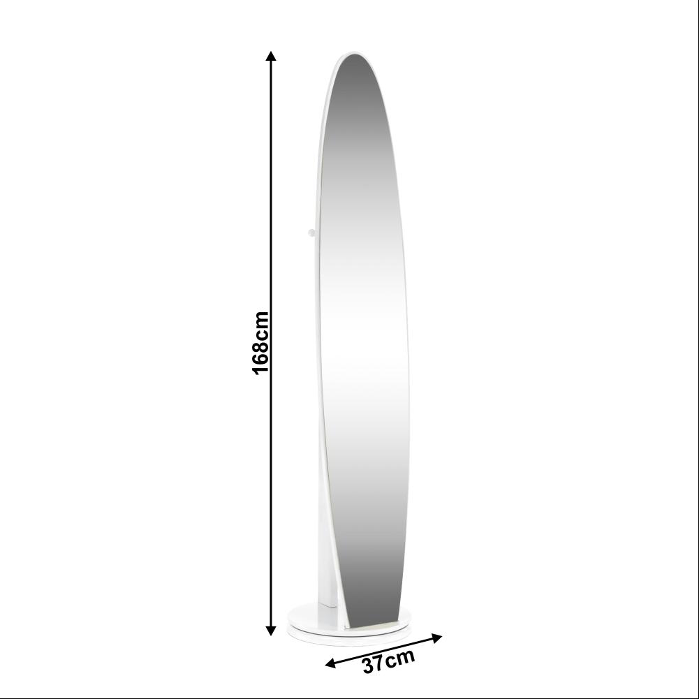 Oglindă de podea, albă, TARAN NEW