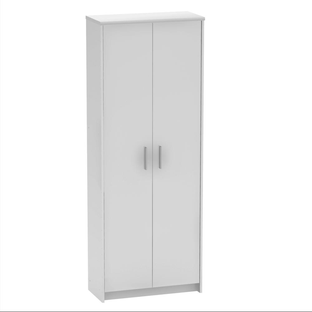 Kétajtós szekrény, fehér, JOHAN 2 NEW 05