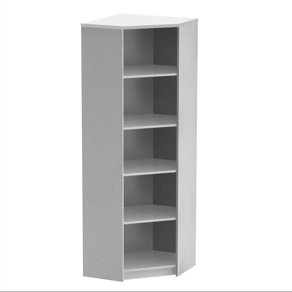Sarok polcos szekrény, fehér, JOHAN 2 NEW 09