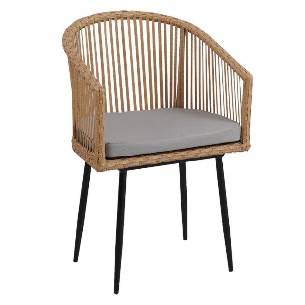 Kerti szék, természetes/szürke/fekete, TABOL