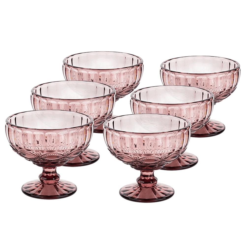 Set de cupe de îngheţată, 6buc, 300 ml, roz, FREGATA TYPE 5