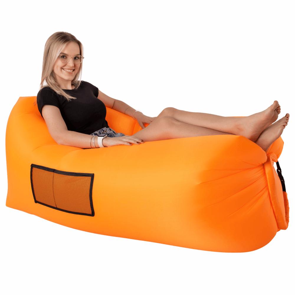 Geantă scaun gonflabilă / geanta leneşă, portocalie, LEBAG