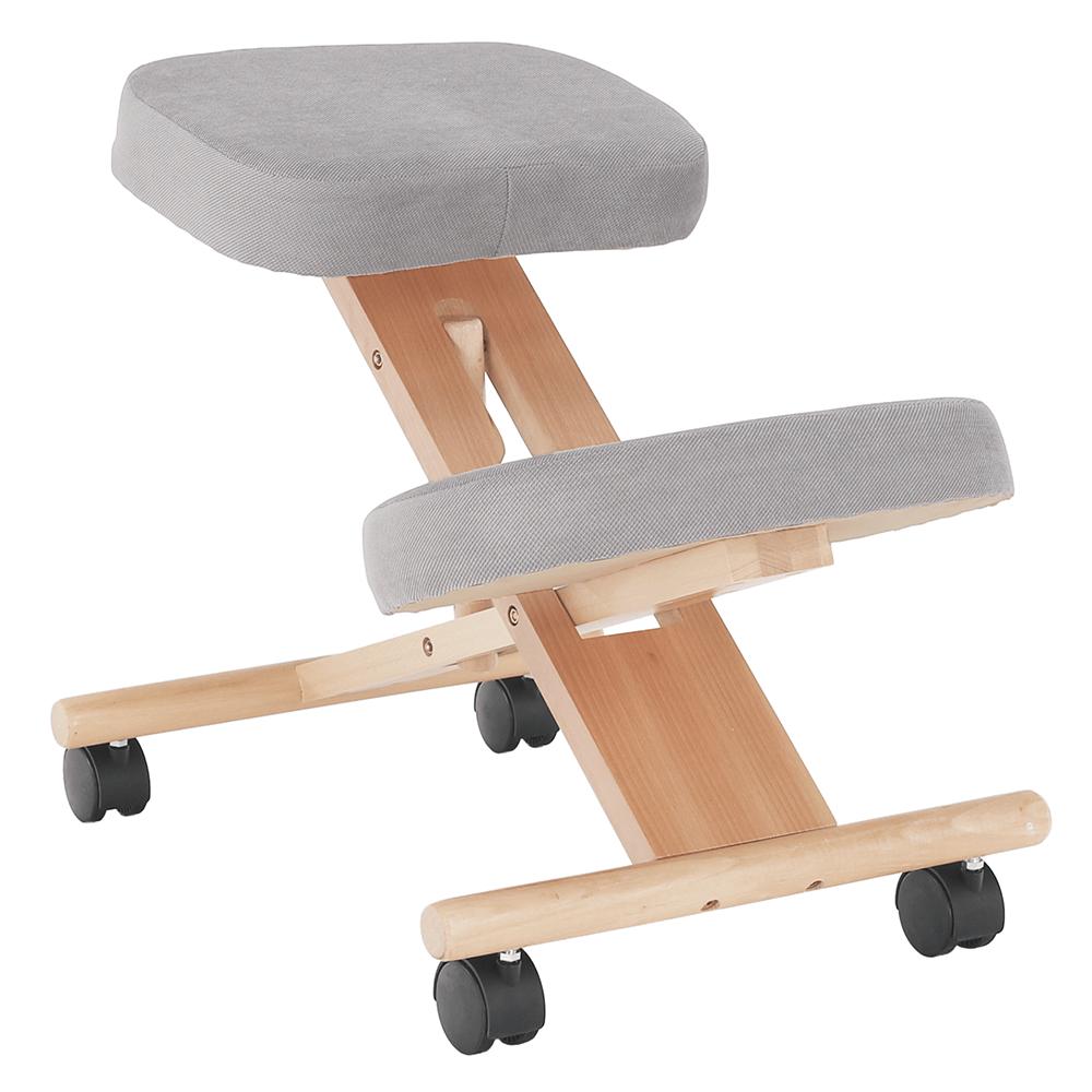 Scaun genunchi ergonomic, gri-maro Taupe / fag, FLONET