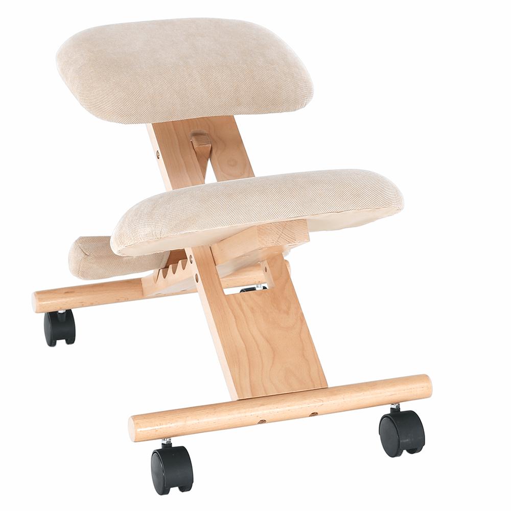 Scaun tip kneeling ergonomic, crem / fag, GROCO