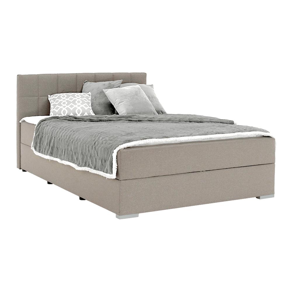 Boxspring típusú ágy 120x200, szürkésbarna taupe, FERATA TV KOMFORT