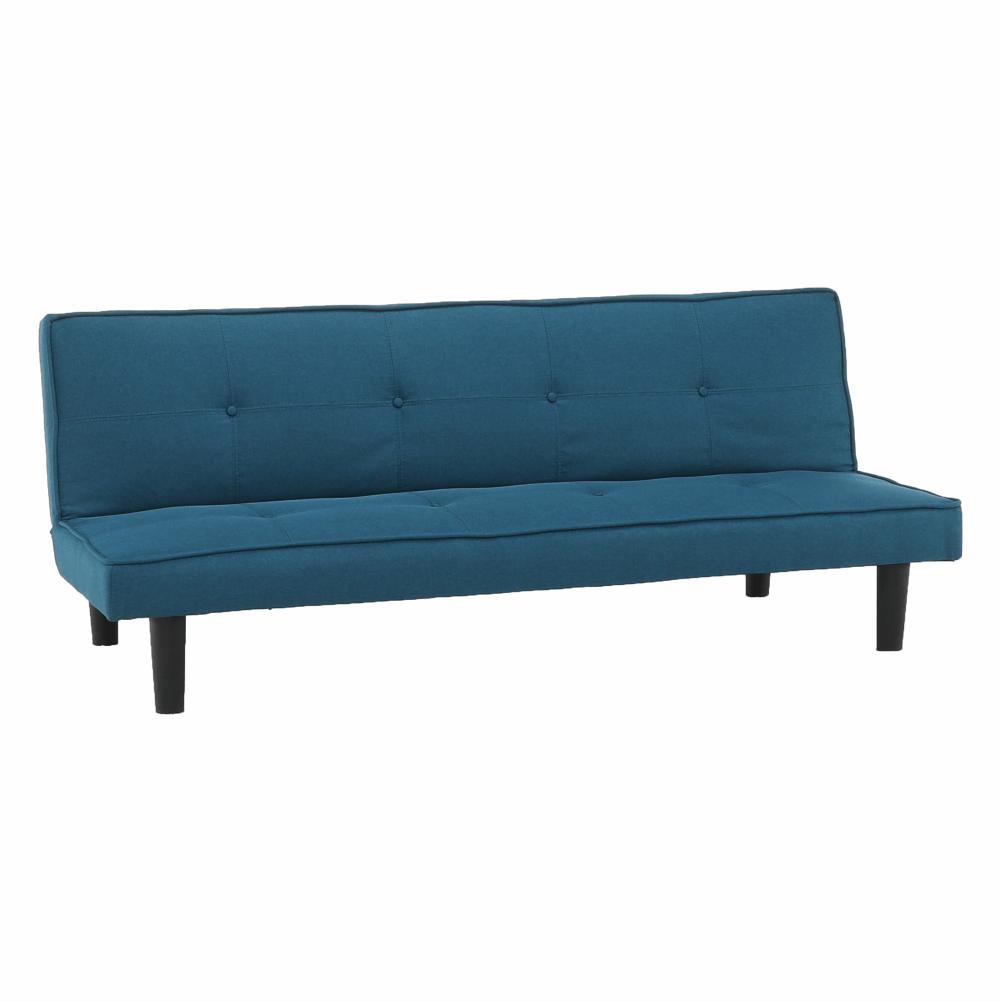 Kinyitható kanapé, kék/fekete, ZELDA NEW