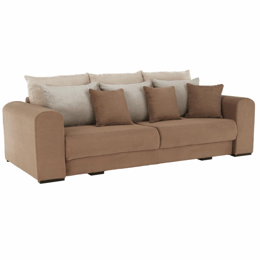 Extra tágas kanapé, világosbarna, bézs, krém színű, GILEN BIG SOFA