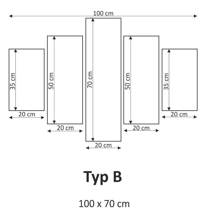 Obraz, s motívom, 100x70 TYP B, F003592F - fotka na bielom pozadí