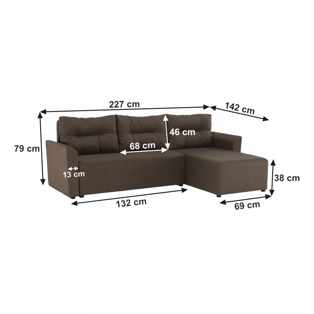 Canapea universală, maro, PLAY