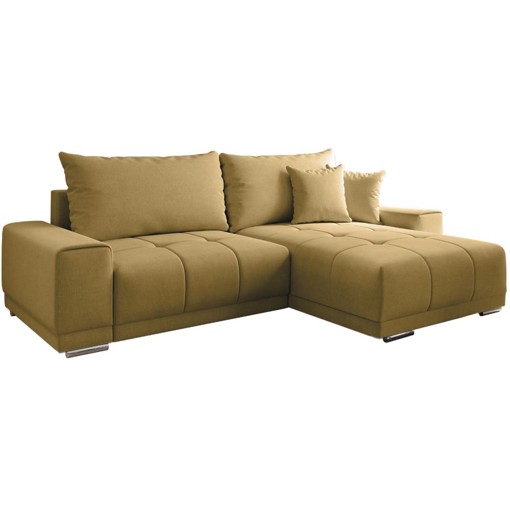 Univerzális ülőgarnitúra, mustár színű, KEVAN