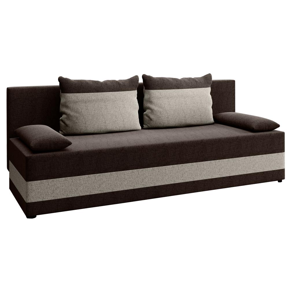 Canapea extensibilă, gri-maro / maro, PREMIUM