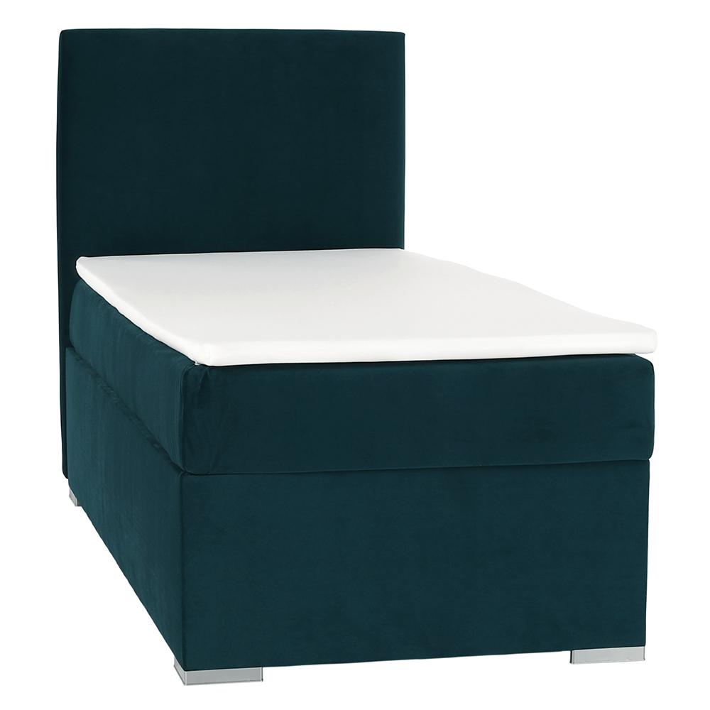 Boxspring ágy, egyszemélyes, zöld, 90x200, balos, SAFRA