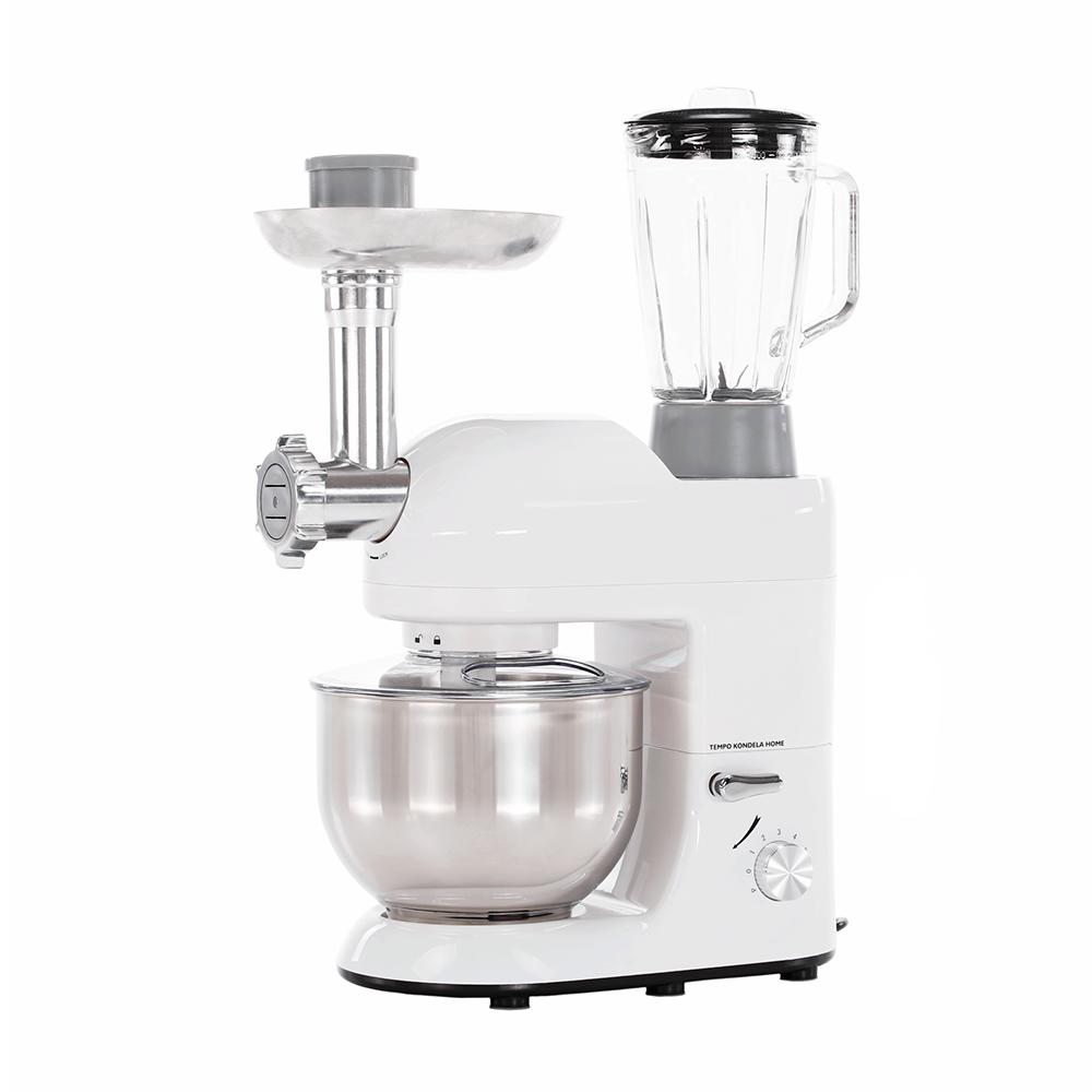 Robot de bucătărie, 1800 W, 5 l, alb lucios/crom, KANTE