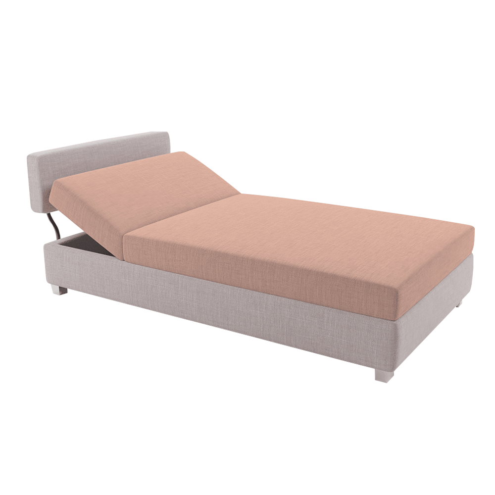 Positioning sofa, maro deschis / somon, DOMEN