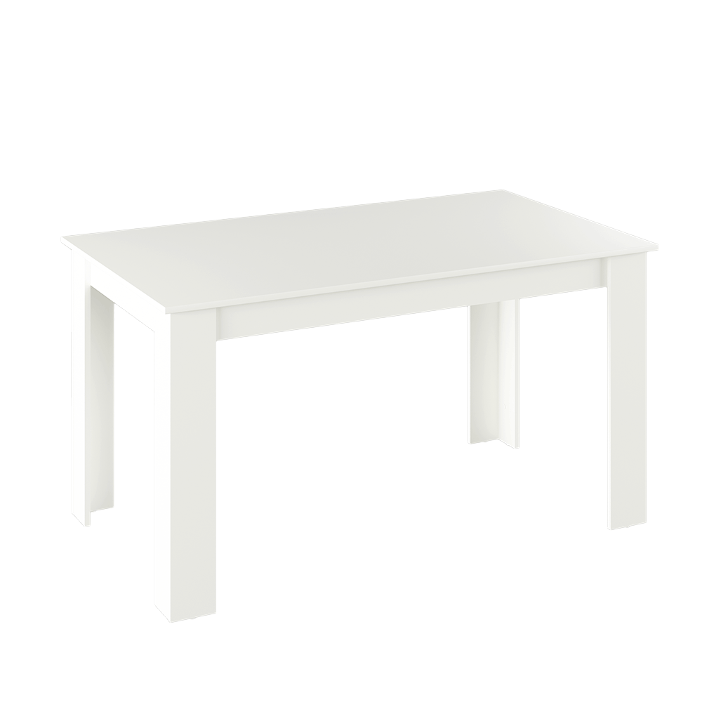 Masa de bucătărie, alb, 140x80 cm, GENERAL NEW