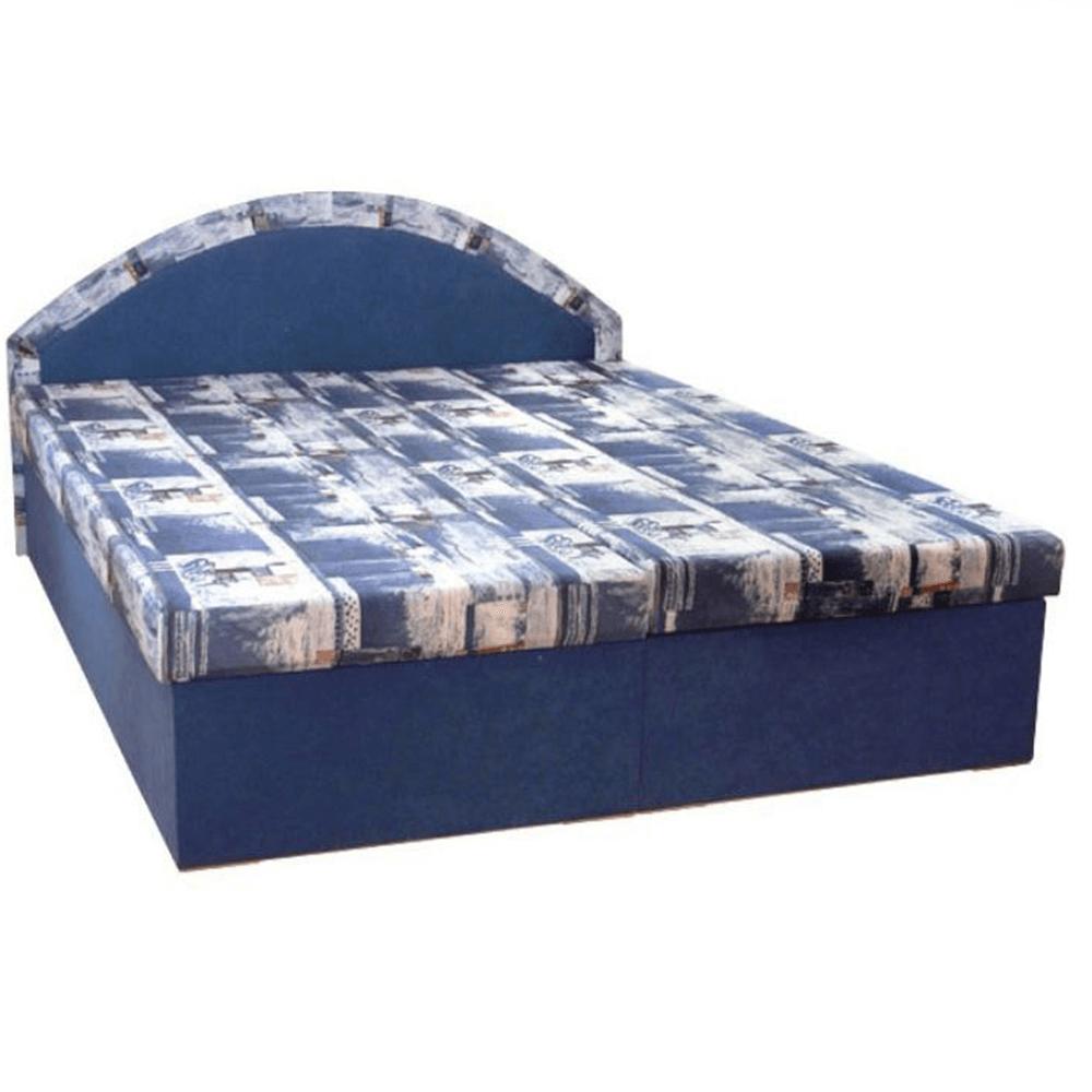 Manželská posteľ Edvin 7, molitánová, modrá | temponabytok.sk