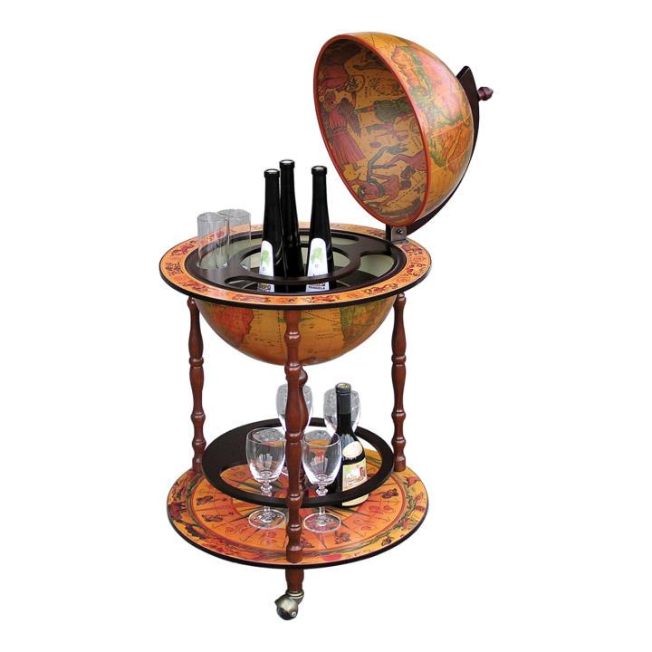 Barový servírovací stolík, čerešňa, na bielom pozadí, GLOBUS 2-324