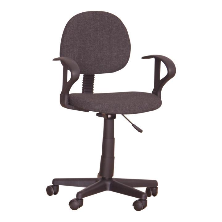 Kancelárska stolička, čierna, TC3-227, na bielom pozadí