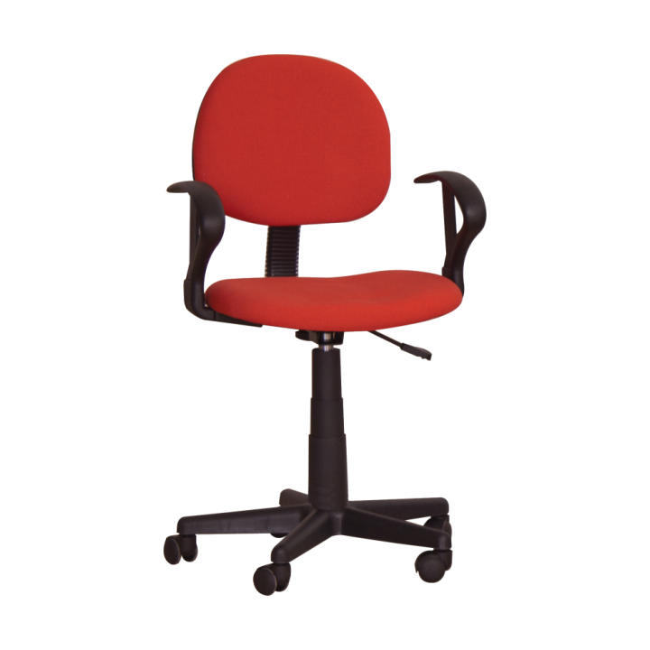 Kancelárska stolička, červená, TC3-227, na bielom pozadí