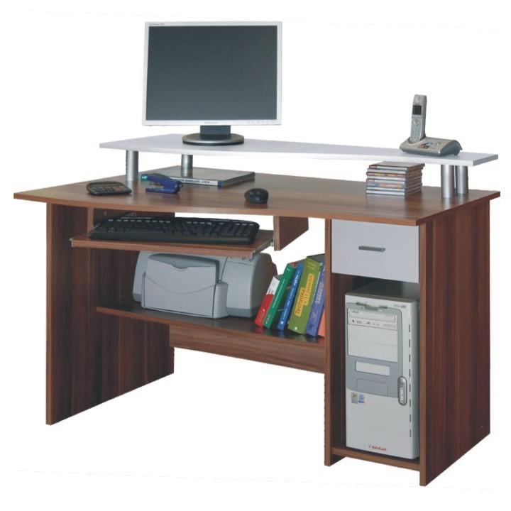 PC stolík, slivka/biela, PLUTO, na bielom pozadí