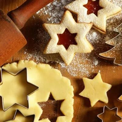 Fursecuri linzer de Crăciun - Calendarul de Advent cu rețete